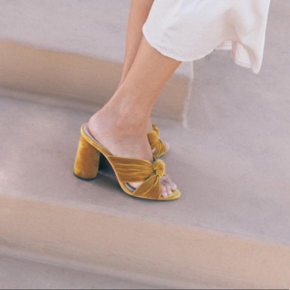 f9d5b2a022a NWOT - Coco High Heel Knot Slide - Marigold